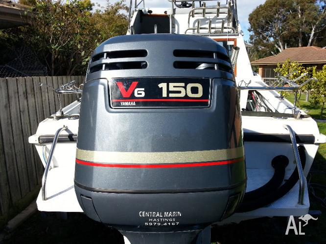 Yamaha 150hp saltwater series ii 2 stroke outboard for for Yamaha 150 2 stroke fuel consumption