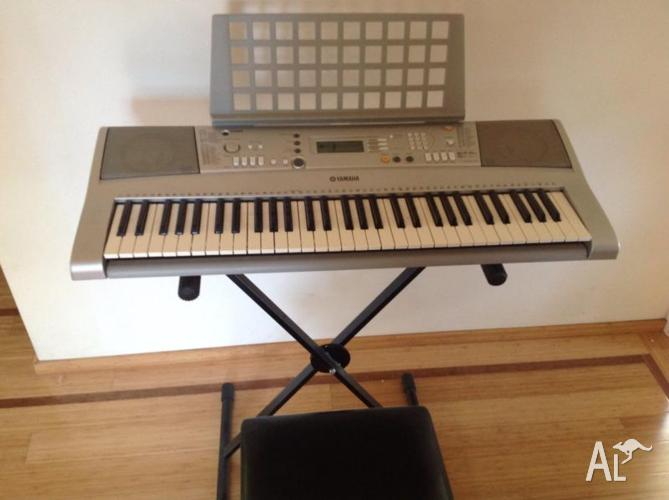 yamaha electronic keyboard and accessories excellent condition for sale in bimberi new south. Black Bedroom Furniture Sets. Home Design Ideas