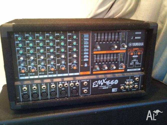yamaha emx660 powered mixer two 500 1000w yamaha