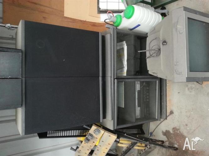 Yamaha Stereo System cabinet, large speakers, DVD