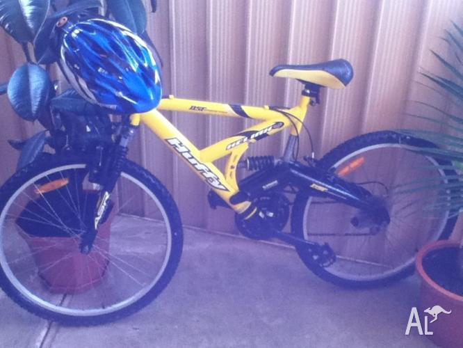 YELLOW Huffy Heliax Full Suspension Mountain Bike for SALE