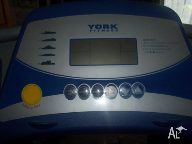 York electric tread mill