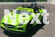 12V Licensed Merc SLS AMG - Ride on Car-Toy MP4 Screen.
