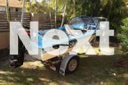 14FT FIBREGLASS BOAT WITH 25HP MERCURY ON NEAR NEW