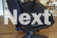Adjustable Leather Office/Hair dresser Chair.