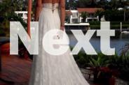 Beautifully Designed Princess Cut Wedding Dress Size 10