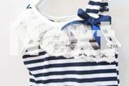 Blue Stripe Tutu Dress