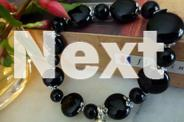 BRACELET SIMPLY ELEGANT STYLISH BLACK ONYX BEADED