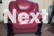 Burgundy Leather Lounge suite 3 seater and 2 single arm