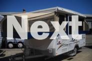 Camper trailer - Jayco Hawk 6 Berth Family Van On Road