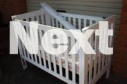 Childcare White Solid Timber Cot