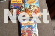 Children's three VHS video boxed set of American Tail.
