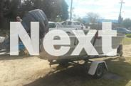 De Havilland dinghy, trailer and 25 HP Yamaha outboard