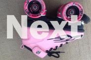 Girls pink Rock Roller Skates