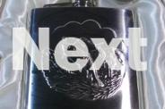 HIP FLASK 6oz & BEAKER SET 6piece, NEW in BOX, Fish