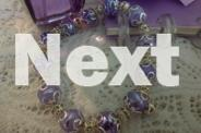 LILAC HANDPAINTED LAMPWORK BEADS WITH GORGEOUS BEAD