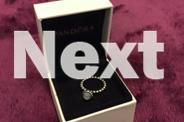 Pandora Aquamarine & Silver Ring