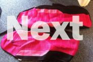 Pink car seat covers hardly used