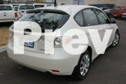 2008 Subaru Impreza White Auto Seq Sportshift Hatchback