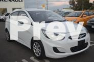 2014 Hyundai Accent White Auto Seq Sportshift Hatchback