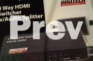 4 Port HDMI Switcher with SPDIF/Coaxial Audio Splitter