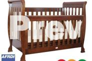 Brand New Sleigh Baby Cot crib Toddler Bed Walnut or