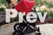 Bugaboo Cameleon Pram in Red/Charcoal
