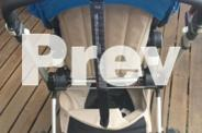 Bugaboo chameleon blue and sand with bassinet and