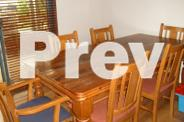 Character Dining Room table and 8 chairs