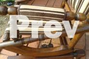 DEXTER fully restored antique rocking chair.