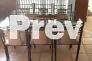 Dining Table 6 Covered Chairs Black Wrought Iron &