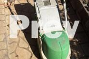 Electric mower with grass catcher