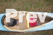 Fibreglass kayak.