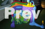 Fisher price play wall & activity tunnel good cond