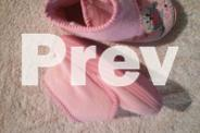 Girls Slippers Size 6 - VGC - Velcros Tab