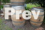 Half Barrique and Hogshead wine barrels.