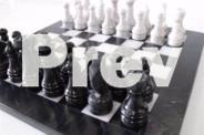 Marble Chess Set Black & White Marble - 12