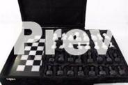 Marble Chess Set Black & White Marble - 12