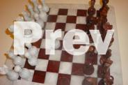 Marble Chess Set Red & White - 12