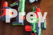 NERF GUNS and bullets - multiple guns