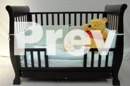NEW Nursery Set - Baby Sleigh Wooden Cot & Change Table