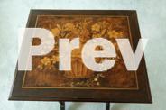 Pair Regency mahogany tables, penwork, circa 1830-40,