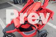 Phil and teds Red 3 wheeler Double Pram with all the