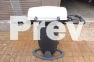 portable BBQ on stand
