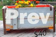 PORTABLE RUSTIC / GARDEN BOXES recycled timber & steel