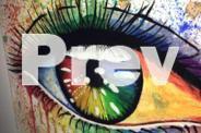 Rainbow Eye CANVAS PIECE acrylic