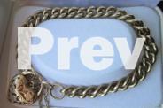 Solid Gold Paddlock Bracelet
