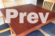 Square Rustic Dining Table 100cm x100cm x 76cm high