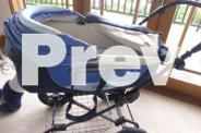 Two in one 4-wheel suspension pram with equipment