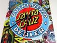 Santa Cruz Authorized Dealer Deck Clock - White/Multi -